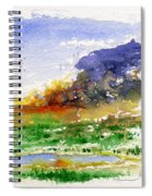 Fire On The Pond Spiral Notebook