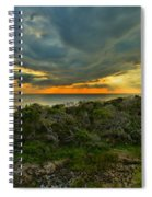 Fire Over The Outer Banks Spiral Notebook
