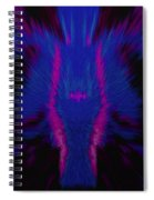 Fire Wolf Abstract Spiral Notebook