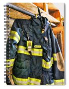 Fireman - Saftey Jacket Spiral Notebook