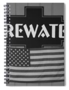 Firewater In Black And White Spiral Notebook