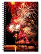 Fireworks Away Spiral Notebook