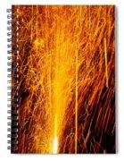 Fireworks Fountain Spiral Notebook