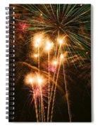 Fireworks In Night Sky Spiral Notebook