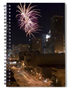 Fireworks Over The City Spiral Notebook