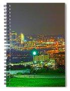 Fireworks Over The City Skyline Spiral Notebook