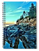 First Light At Bass Harbor Spiral Notebook