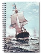 First Recognition Of The Stars And Stripes Spiral Notebook
