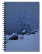 First Snow At First Light Spiral Notebook