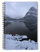 First Snow At Grinnell Spiral Notebook