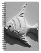 Fish And Shadow Face In Black And White Spiral Notebook