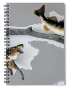 Fish Mount Set 03 C Spiral Notebook