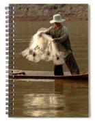 Fisherman Mekong 3 Spiral Notebook