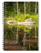 Fisherman's Dream Trout Pond Spiral Notebook