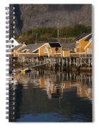 Fishermen's Village Sakrisoy  Spiral Notebook