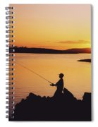 Fishing At Sunset, Roaring Water Bay Spiral Notebook