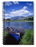 Fishing Boat On Upper Lake, Killarney Spiral Notebook