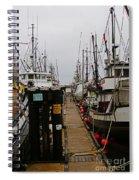 Fishing Boat Walkway Spiral Notebook