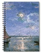 Fishing Boats By Moonlight Spiral Notebook