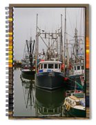 Fishing Boats In Steveston Group Photo Spiral Notebook