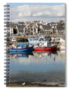 Fishing Boats In The Harbor Spiral Notebook
