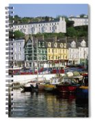 Fishing Boats Moored At A Harbor, Cobh Spiral Notebook