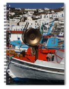 Fishing Boats Mykonos Spiral Notebook
