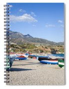 Fishing Boats On A Beach In Spain Spiral Notebook