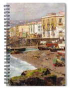 Fishing Boats On The Beach At Marinella Naples Spiral Notebook