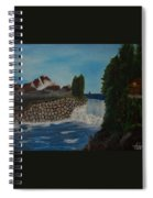 Fishing By The Falls Spiral Notebook