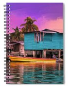 Fishing Camp Twilight Spiral Notebook