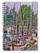 Fishing Docks Hdr Spiral Notebook