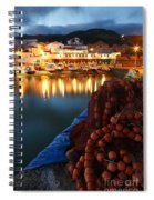 Fishing Harbour At Dusk Spiral Notebook