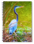 Fishing In The Reeds Spiral Notebook