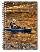 Fishing The Golden Hour Spiral Notebook