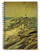 Fishing The Jetty - Island Beach State Park   Nj Spiral Notebook