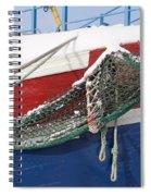 Fishing Vessel In Winter's Rest Spiral Notebook