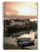 Fishing Village In Ireland Spiral Notebook