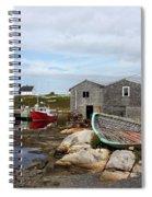 Fishing Village In Nova Scotia Spiral Notebook