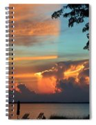 Fitting Sunset Spiral Notebook