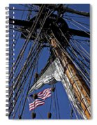 Flag In The Rigging Spiral Notebook