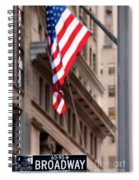 Flag On Broadway Spiral Notebook