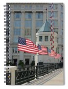 Flags On The Avenue Spiral Notebook