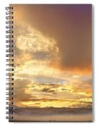 Flagstaff Fire Sky Boulder Colorado Spiral Notebook