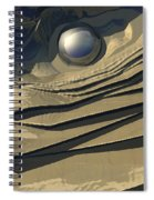 Flakes Of Gold Spiral Notebook