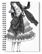 Flamenco Dancer Spiral Notebook