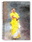 Flamenco Dancer In Yellow Spiral Notebook