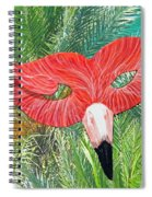 Flamingo Mask 2 Spiral Notebook