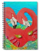 Flamingo Mask 3 Spiral Notebook