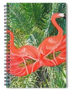 Flamingo Mask 4 Spiral Notebook